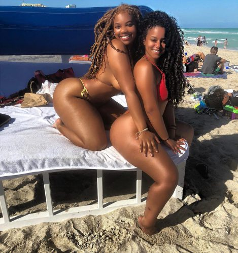 Ravie Loso and friend at the beach